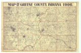 Map of Greene County Indiana
