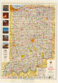 1962 Indiana Official Highway Map