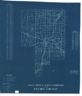 Map of Fulton County. Road