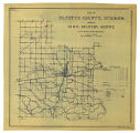 Map of Fayette County Indiana Showing Rural Delivery Service