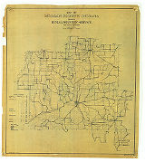 Map of Morgan County Indiana Showing Rural Delivery Service