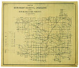 Map of Steuben County Indiana Showing Rural Delivery Service