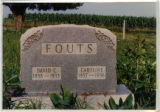 Grave of David C. and Caroline Fouts