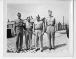 Major Gen. Gullion, Col. Modisette, Lt. Col. Gammell, Major Powell