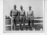 Capt. R. J. Brown, Lt. F. Woodzall, and Lt. S. G. Costine