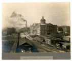 Wabash Railroad and Courthouse From East