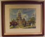 Oil painting of Whitley County Indiana Courthouse
