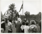 Camp, U.S. Flag Ceremony, 1960's