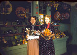 Betty Lou Flower Shop: (l-r) Jane Ann (Moses) Switzer, John's wife & unknown woman