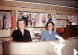 Sales Clerks at Adler's:(l-r) Dorothy Ashley (possibly) & Lucille Elliott