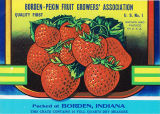 Crate label of the Borden-Pekin Fruit Growers' Association