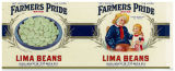 Can label for Farmers Pride brand lima beans