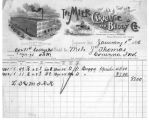 Invoice to Milo J. Thomas 1 January 1896