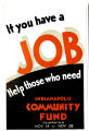 If you have a job, help those in need