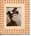 Unidentified woman with feathered hat.