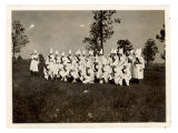 KKK South Bend drill team in Knox, Indiana, 1924-05-30