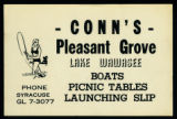 Flyer for Conn's Pleasant Grove on Lake Wawasee
