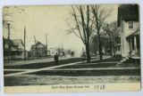Postcard of South Main Street on which are Lonie White and Ruth Snyder