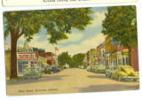 Painting of Main Street facing East