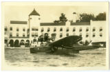 Airplane on the Lake in Front of the Spink Hotel