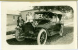 Jessie Callender and Friends and Child by Car