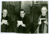 Parks, Robinson, and Mueller During a Dedication, 1961