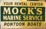 Mock's Boat Rental Sign