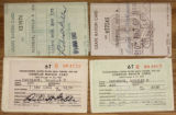 Ration Cards for Douglas H. Paschack, 1961-1963