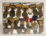 Medals belonging to Clifford Cripe from Wawasee Post 223 Drum and Bugle Corp, 1945
