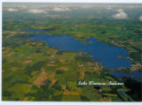 Arial of Lake Wawasee and surrounding land