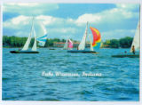 Sailboats on Lake Wawasee in front of the Spink