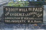 Sign Posted at Linger Lodge, 1900