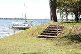 Original Cement Steps Between Linger Lodge (Pier 797) and the Newell's Cottage