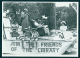 Syracuse Library Float in Sesquicentennial Town Celebration Parade, 1985