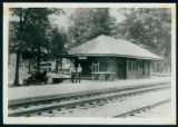 Men at the Old Wawasee Station