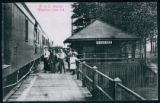 Crowd at the B&O Station on Lake Wawasee