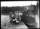 People Boarding an Old Steamer Ship at Lake Wawasee