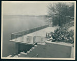 Porch on Ogden Island Overlooking Lake Wawasee