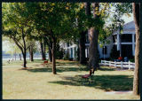 Benches and Tress in Front of the Oakwood Hotel, 1994