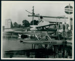 Ken Harkless Standing on Floatplane at Wawasee Boat Company.