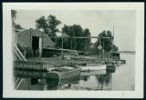 Lifting Boats at Wawasee Boat Company