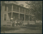People on the Porch of the Lake View Hotel, 1899