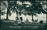 People Sunbathing on the South Shore of Lake Wawasee