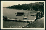 Piers and Boats at the South Shore Inn on Lake Wawasee