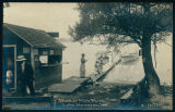 Postcard of Refreshment Shop on Buttermilk Point at Lake Wawasee