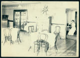 The Interior of the Cafe at Sargent's Hotel