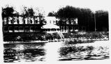 Old Photograph Negative of the Wawasee Inn