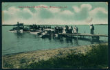 The Boat Landing at the B. & O. Station on Lake Wawasee