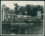 Ken Harkless and Dale Butt with Seaplane at Wawasee Boat Company