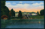 Sunset Over the South Shore Inn on Lake Wawasee